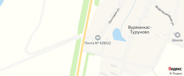 Почтовая улица на карте деревни Вурманкас-Туруново с номерами домов