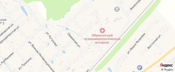 Улица Суворова на карте поселка Ибреси с номерами домов