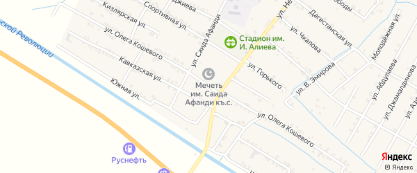Улица О.Кошевого на карте села Нового Чиркея с номерами домов