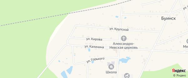 Улица Кирова на карте поселка Буинска с номерами домов