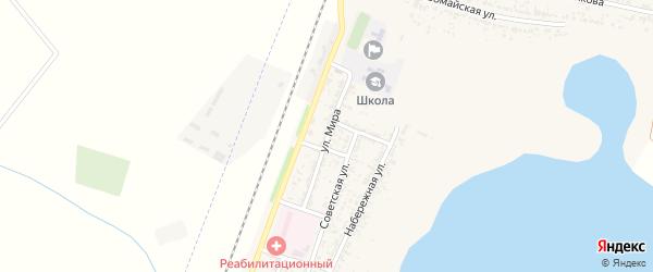 Улица Мира на карте поселка Лимана с номерами домов
