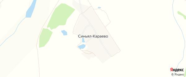 Карта деревни Синьял-Караево в Чувашии с улицами и номерами домов