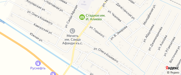 Улица Калинина на карте села Нового Чиркея с номерами домов