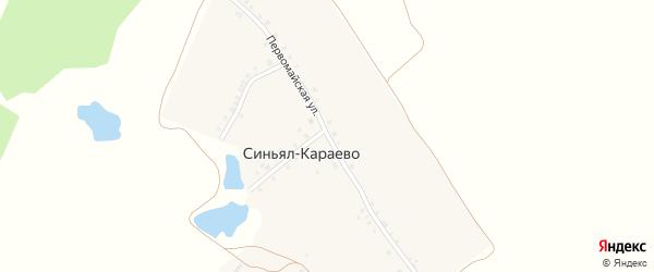 Первомайская улица на карте деревни Синьял-Караево с номерами домов