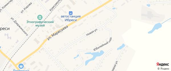 Новая улица на карте поселка Ибреси с номерами домов