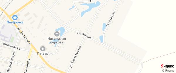 Улица Ленина на карте поселка Ибреси с номерами домов
