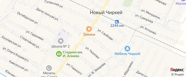 Дагестанская улица на карте села Нового Чиркея с номерами домов