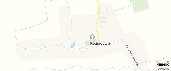 Чувашская улица на карте села Кошлоуши с номерами домов