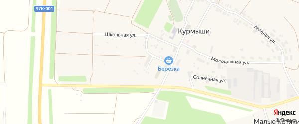 Шоссейная улица на карте деревни Курмыши с номерами домов