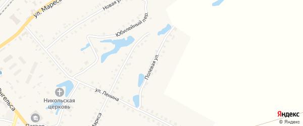 Полевая улица на карте поселка Ибреси с номерами домов