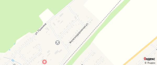 Железнодорожная улица на карте поселка Ибреси с номерами домов