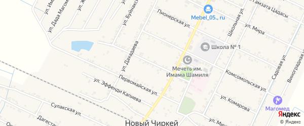 Улица Гагарина на карте села Нового Чиркея с номерами домов