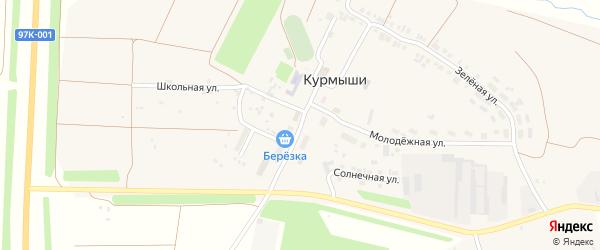 Улица 9 Пятилетки на карте деревни Курмыши с номерами домов