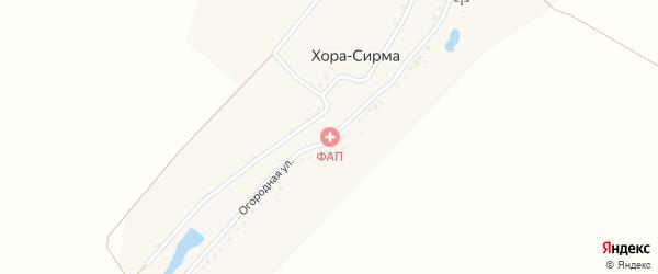 Огородная улица на карте деревни Хоры-Сирмы с номерами домов