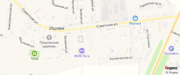 Стадионная улица на карте села Ишлеи с номерами домов