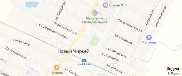 Улица Мотросова на карте села Нового Чиркея с номерами домов