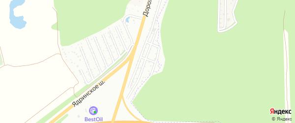 Территория сдт Поляна на карте Чебоксар с номерами домов