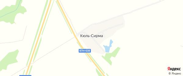 Карта деревни Кюль-Сирмы в Чувашии с улицами и номерами домов