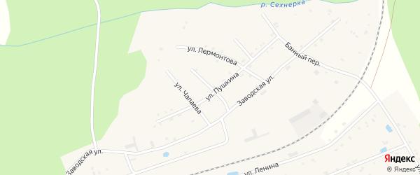 Ветеринарный переулок на карте поселка Буинска с номерами домов