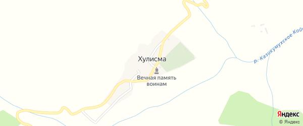 Улица 1 Линия на карте села Хулисмы с номерами домов