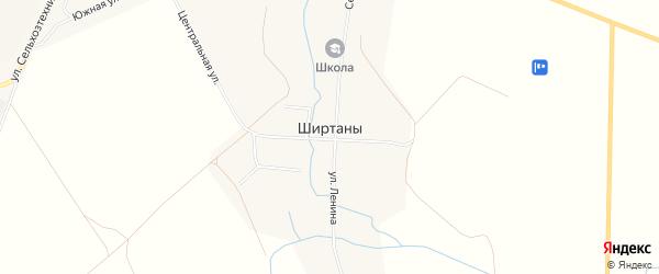 Карта деревни Ширтаны в Чувашии с улицами и номерами домов