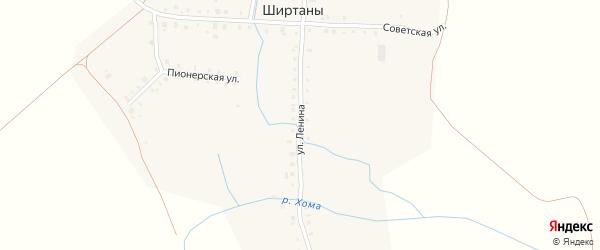 Улица Ленина на карте деревни Ширтаны с номерами домов
