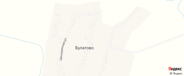 Малая улица на карте деревни Булатово с номерами домов