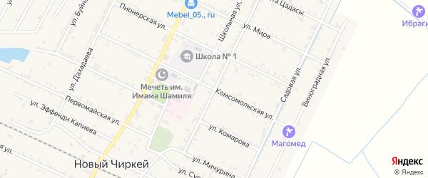 Улица Кирова на карте села Нового Чиркея с номерами домов