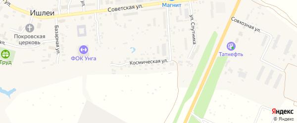 Космическая улица на карте села Ишлеи с номерами домов