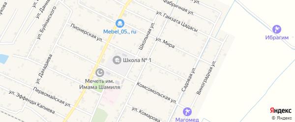 Советская улица на карте села Нового Чиркея с номерами домов