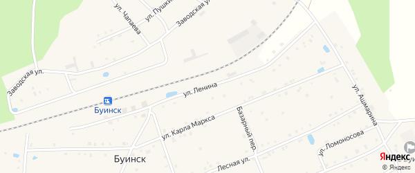 Улица Ленина на карте поселка Буинска с номерами домов