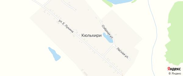 Лесная улица на карте деревни Кюльхири с номерами домов