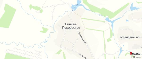 Карта деревни Синьяла-Покровского в Чувашии с улицами и номерами домов