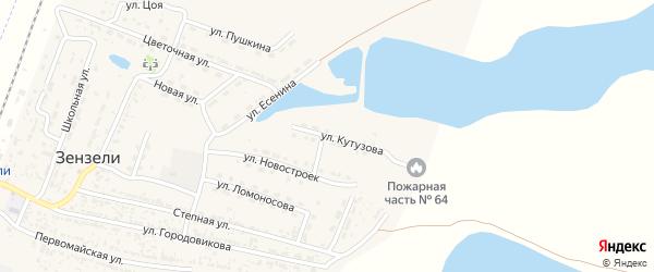 Улица Кутузова на карте села Зензели с номерами домов
