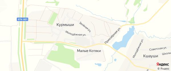Карта деревни Курмыши в Чувашии с улицами и номерами домов