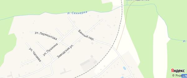 Банный переулок на карте поселка Буинска с номерами домов