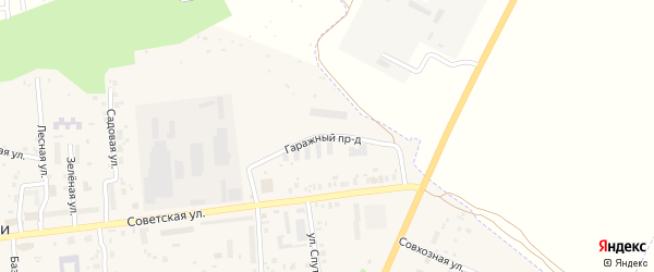Гаражный проезд на карте села Ишлеи с номерами домов