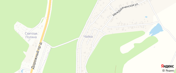 Территория сдт Чайка на карте Чебоксар с номерами домов