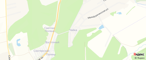 Карта садового некоммерческого товарищества Чайки в Чувашии с улицами и номерами домов