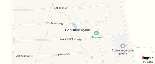 Северная улица на карте деревни Большие Яуши с номерами домов