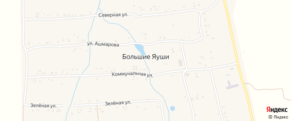Овражная улица на карте деревни Большие Яуши с номерами домов