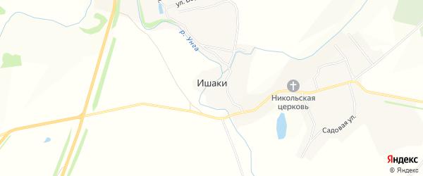 Карта села Ишаки в Чувашии с улицами и номерами домов