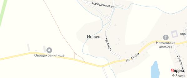Переулок Мира на карте села Ишаки с номерами домов