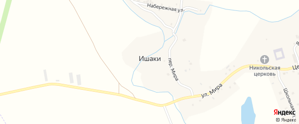Улица Калинина на карте села Ишаки с номерами домов