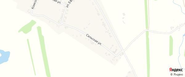 Сельская улица на карте деревни Синьяла-Покровского с номерами домов