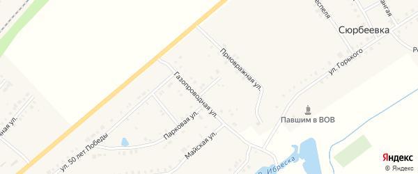 Овражный переулок на карте деревни Сюрбеевки с номерами домов