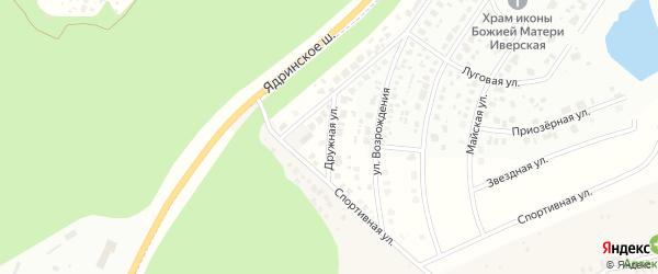 Дружная улица на карте деревни Чандрово с номерами домов