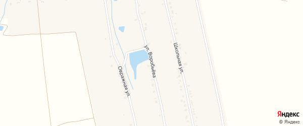 Улица Воробьева на карте деревни Большие Яуши с номерами домов