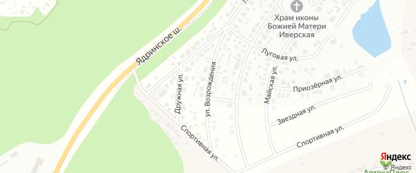 Улица Возрождения на карте деревни Чандрово с номерами домов