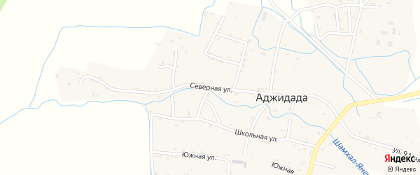 Северная улица на карте села Аджидады с номерами домов